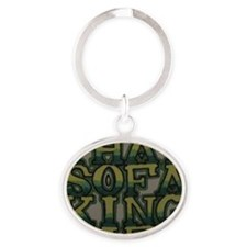 Sofa King Easy Oval Keychain