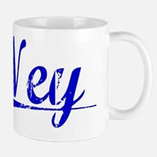 Ney, Blue, Aged Mug