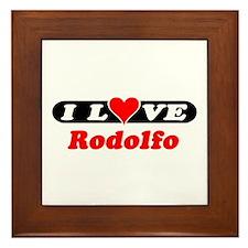 I Love Rodolfo Framed Tile