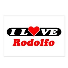 I Love Rodolfo Postcards (Package of 8)