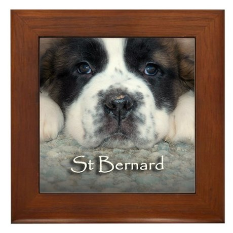 Baby Saint Framed Tile