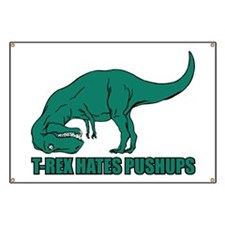 T-Rex Hates Pushups Banner