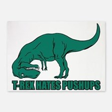 T-Rex Hates Pushups 5'x7'Area Rug