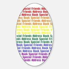 Special Friends Address Book Sticker (Oval)