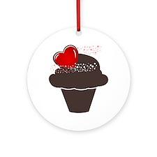 Love Cupcake Round Ornament