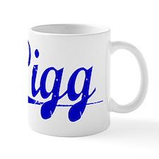 Pigg, Blue, Aged Mug