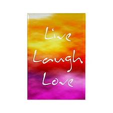 Live Laugh Love Journal Rectangle Magnet