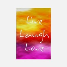 Live Laugh Love Journal Rectangle Magnet