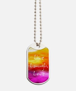 Live Laugh Love Journal Dog Tags
