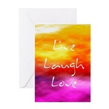 Live Laugh Love Journal Greeting Card