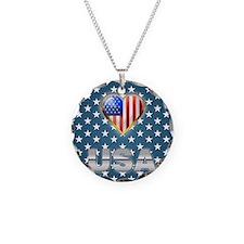 US Patriotic Design Necklace