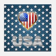 US Patriotic Design Tile Coaster