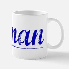 Pitman, Blue, Aged Mug