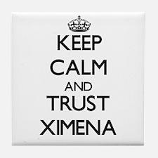 Keep Calm and trust Ximena Tile Coaster
