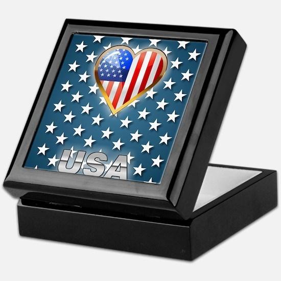 US Stars Keepsake Box