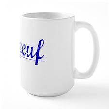 Phaneuf, Blue, Aged Mug