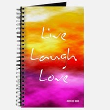Live Laugh Love Address Book Journal