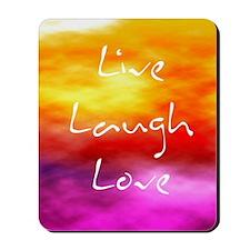 Live Laugh Love Address Book Mousepad