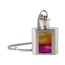 Live Laugh Love Address Book Flask Necklace
