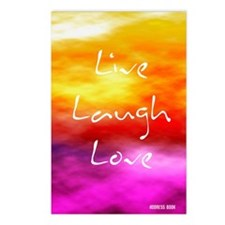 Live Laugh Love Address B Postcards (Package of 8)