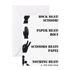 Rock Paper Scissors Blowjob Greeting Card