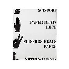 Rock Paper Scissors Blowjob Throw Blanket
