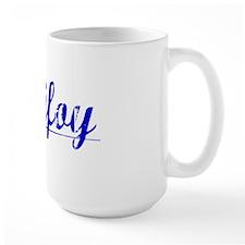 Purifoy, Blue, Aged Mug