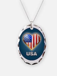 Patriotic ornament Necklace