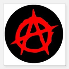 "Anarchy Square Car Magnet 3"" x 3"""