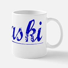 Pulaski, Blue, Aged Mug