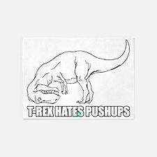 T-Rex Hates Pushups 5'x7'Area Rug