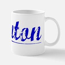 Quinton, Blue, Aged Mug