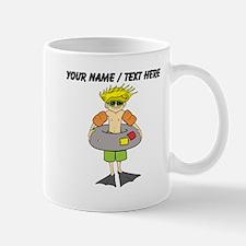 Custom Kid Going Swimming Mugs