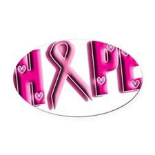 Hope Oval Car Magnet