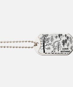 Leave Nothing but Footprints BLK Dog Tags