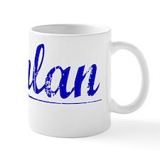 Quinlan, Blue, Aged Mug