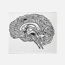 Science Geek Brain Throw Blanket