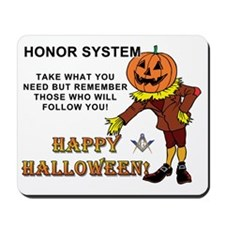 Halloween Masonic Honor System Mousepad