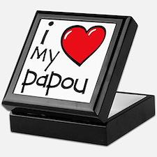 I Love My Papou Keepsake Box