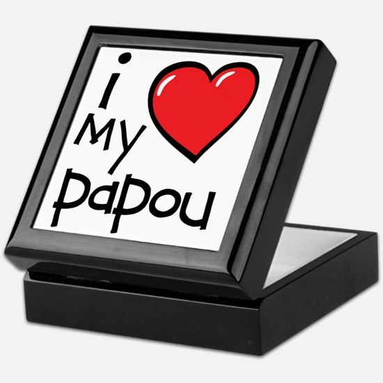 I Love My Papou Keepsake Box