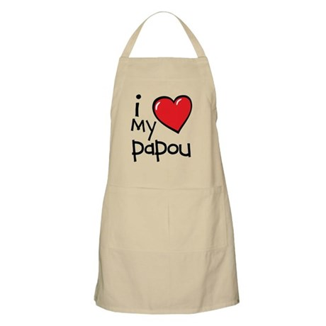 I Love My Papou Apron