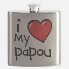 I Love My Papou Flask