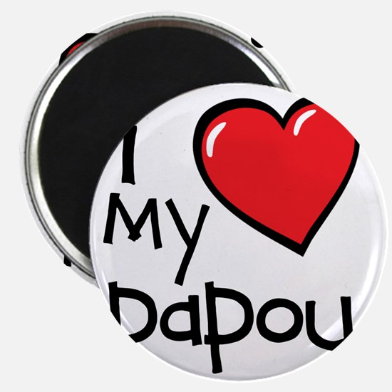 I Love My Papou Magnet