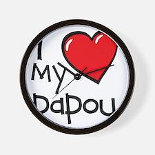 I Love My Papou Wall Clock