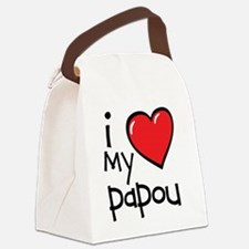 I Love My Papou Canvas Lunch Bag
