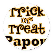 Trick or Treat Papou Round Car Magnet