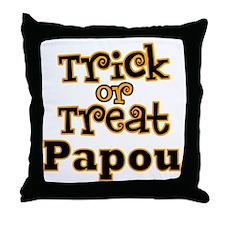 Trick or Treat Papou Throw Pillow