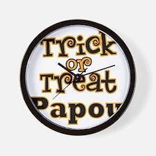 Trick or Treat Papou Wall Clock