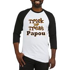 Trick or Treat Papou Baseball Jersey