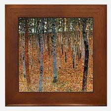 Gustav Klimt Beech Grove Framed Tile
